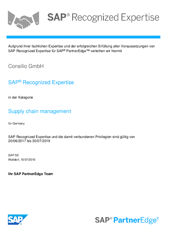 Supply Chain Management (SCM) - CONSILIO GmbH